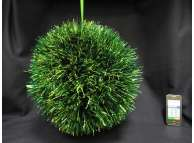 Шар новогодний Ø40 / мишура зеленая (1шт)