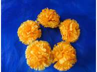 Цветочная головка гвоздика желтая Ø8см (5шт)