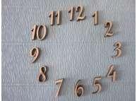 Арабские цифры для часов №2/фанера (комплект)