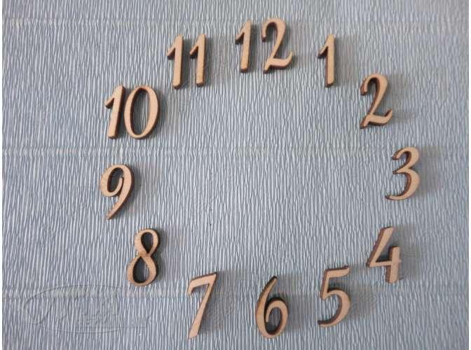 Арабские цифры для часов №1/фанера (комплект)