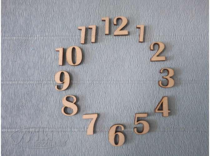 Арабские цифры для часов №7/фанера (комплект)