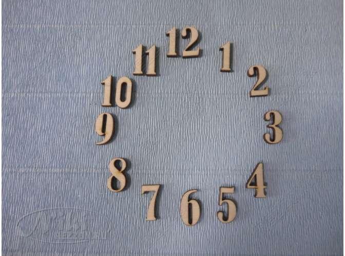 Арабские цифры для часов №6/фанера (комплект)