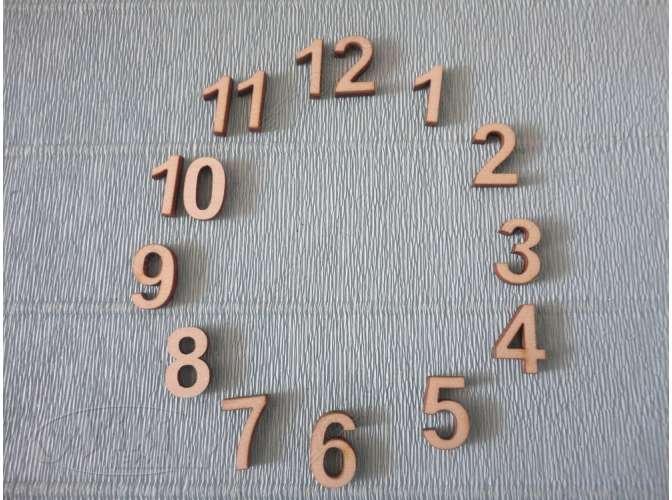 Арабские цифры для часов №3/фанера (комплект)