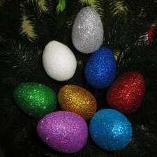 Яйцо блестящее  h15 см (1шт)