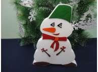 """Декор из пенопласта """"Снеговик с рябинками"""" h30см (1шт)"""