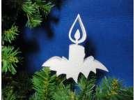 """Заготовка из пенопласта """"Новогодняя свеча"""" h15см; w2см (1шт)"""