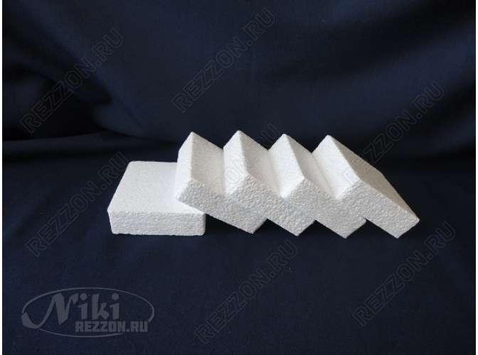 Плитка из пенопласта прямоугольная 19х7,5х4 (1шт)