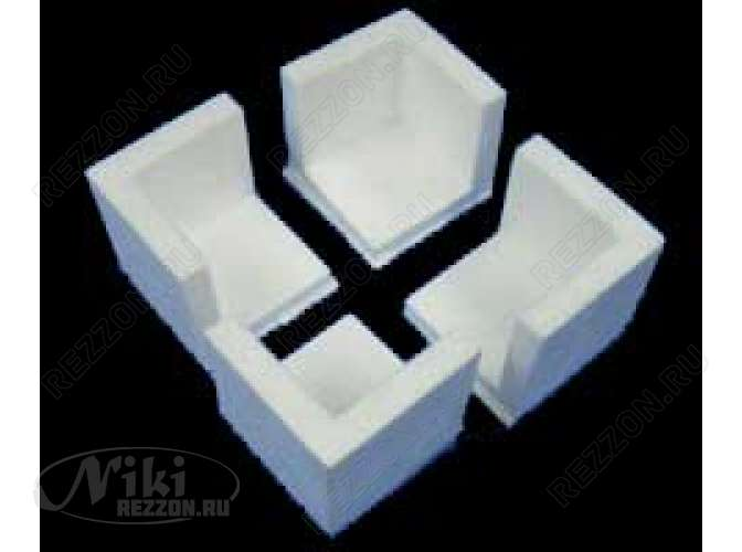 Уголок из пенопласта 3х3 см (1шт)