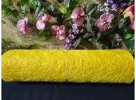 Сизалевое полотно, цвет лимонный 48х9ярд (1рулон)