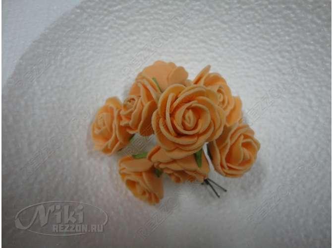 Цветочная головка роза молочный/латекс Ø2,3см (10шт)