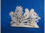 "Салфетница ""Поющие птички""/дерево 13,6*5*9,4 см (1шт)"