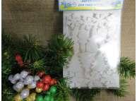 """Декор из пенопласта """"Новогодний микс"""" блеск (набор 16шт)"""