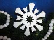 Снежинка из пенопласта d12 (коробка 45шт) Выбор дизайна