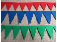 "Гирлянда из фетра ""Треугольные флажки "" L 85см (1шт)"